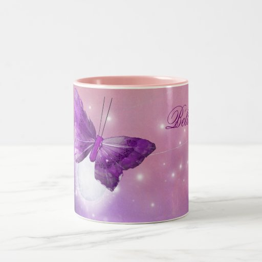 Purple Butterfly Fantasy Moon Designs Mug