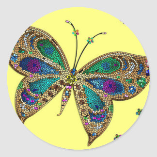 Purple Butterfly Fibromyalgia Awareness Stickers