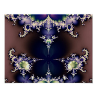 Purple Butterfly Ice Crystals Fractal Art Poster