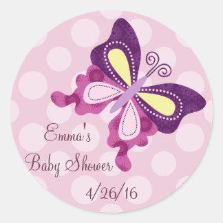 Purple Butterfly Lane Stickers/Envelope Seals Round Sticker