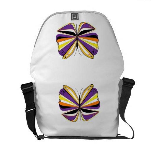Purple Butterfly Commuter Bags
