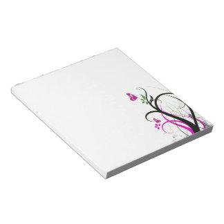 Purple butterfly Notepad