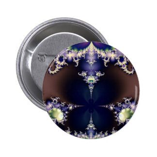 Purple Butterfly on Ice Crystals Fractal Art Gifts Pin