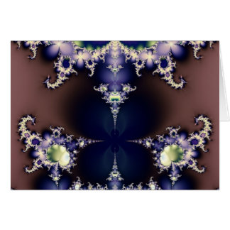 Purple Butterfly on Ice Crystals Fractal Art Gifts Greeting Card