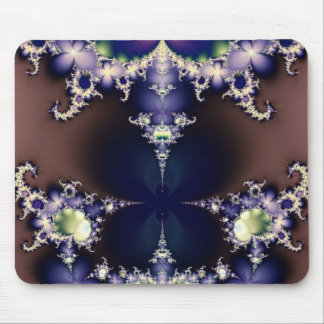 Purple Butterfly on Ice Crystals Fractal Art Gifts Mouse Pad