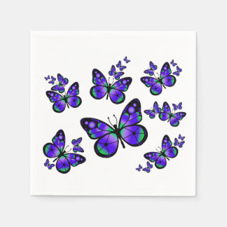 Purple Butterfly Paper Napkin