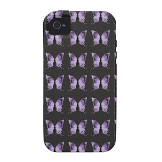 Purple Butterfly Pattern Vibe iPhone 4 Cover
