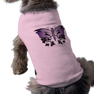 Purple Butterfly Skull Shirt