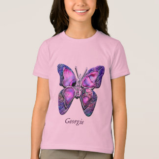 Purple Butterfly sparkle Shirt