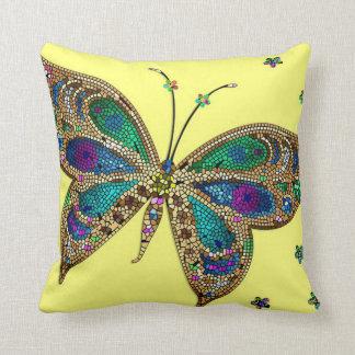 Purple Butterfly Throw Pillow