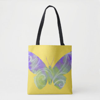 Purple Butterfly Tote Bag