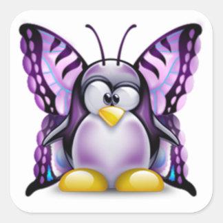 Purple Butterfly Tux (Linux Tux) Stickers