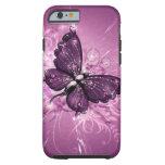 purple butterfly vector art tough iPhone 6 case