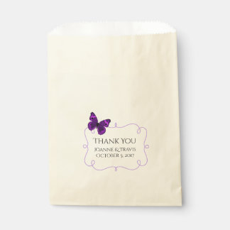 Purple Butterfly Wedding Favor Bag