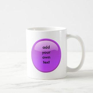 purple button coffee mug