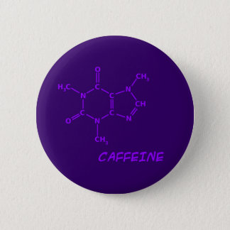 Purple Caffeine Molecule Button