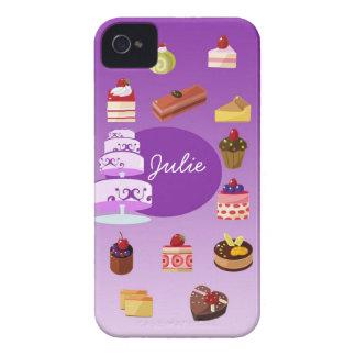 Purple Cake Iphone 4/4s case iPhone 4 Case-Mate Case