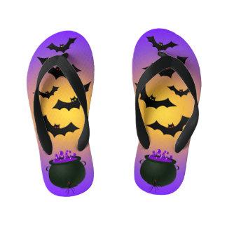 Purple Caldron and Bats Kid's Thongs