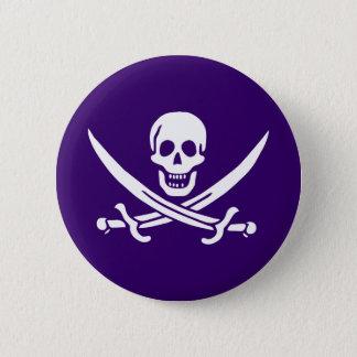 Purple Calico Jack 6 Cm Round Badge