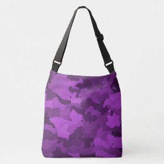 Purple Camo Crossbody Bag