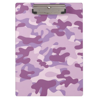 Purple Camo Design Clipboard