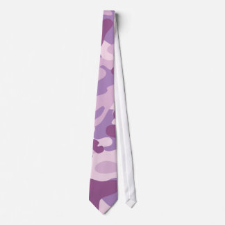 Purple Camo Design Tie