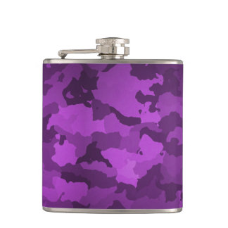 Purple Camo Hip Flask
