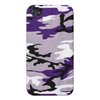 Purple Camo iPhone 4 Case