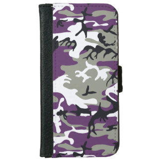 Purple Camouflage iPhone 6 Wallet Case