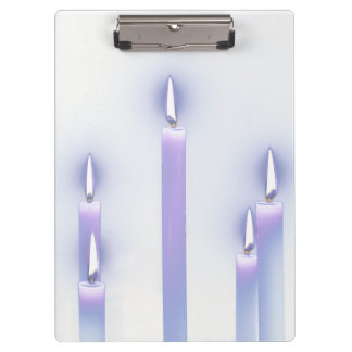 Purple Candles Clipboard