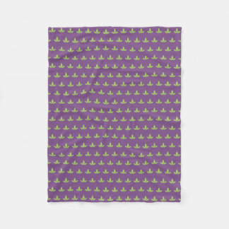 Purple Cannatopia Logo Blanket