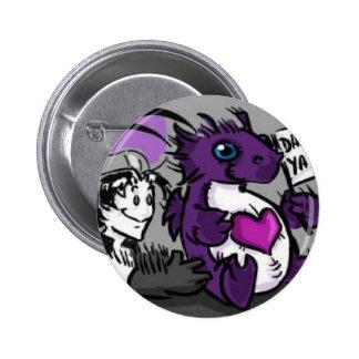 Purple Care Dragoon 6 Cm Round Badge