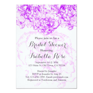 Purple carnation bridal shower FMW14 11 Cm X 16 Cm Invitation Card