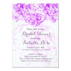 Purple carnation bridal shower FMW14 Card