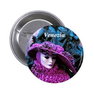 Purple Carnival Costume 6 Cm Round Badge