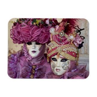 Purple Carnival costume, Venice Rectangular Photo Magnet