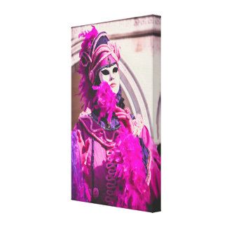 Purple carnival mask in Venice Canvas Print