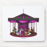 Purple Carousel Mouse Mat