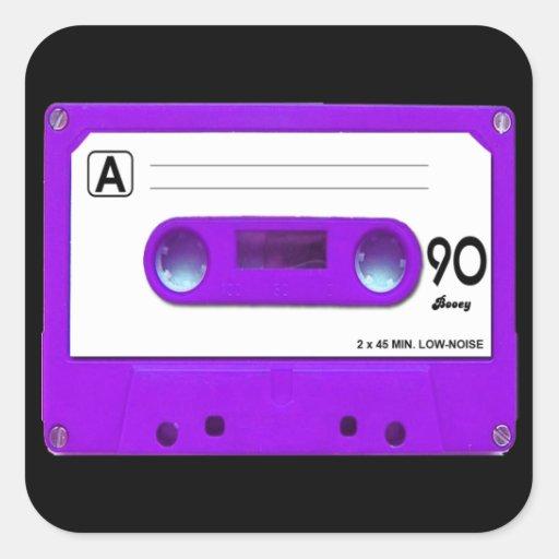Purple Cassette Tape Stickers
