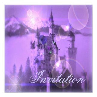Purple Castle Princess Birthday Party Invitation