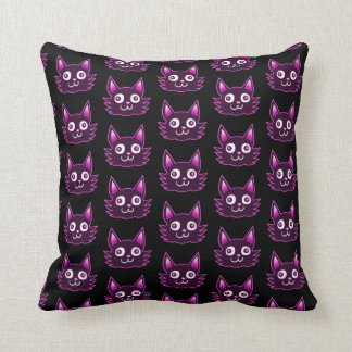 purple cat cartoon style vector illustration cushion