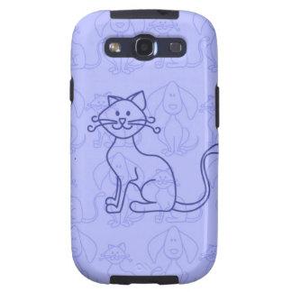Purple Cat Galaxy S3 Cases