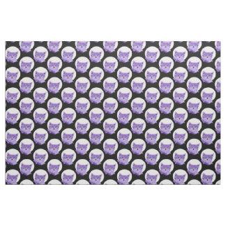 Purple cat fabric
