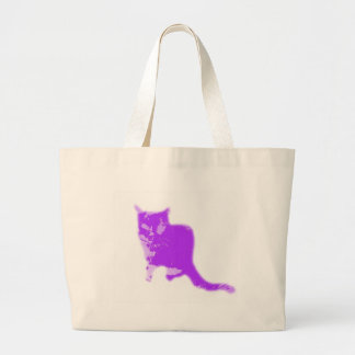 PURPLE CAT LARGE TOTE BAG