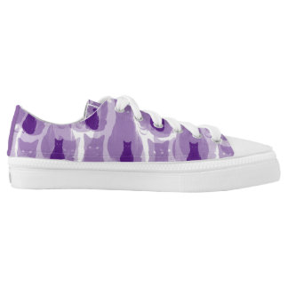 Purple Cat Low Tops