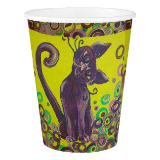 purple cat paper cup