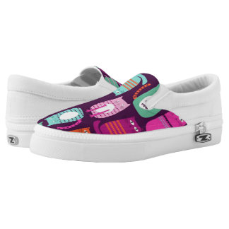 Purple Cat Printed Shoes