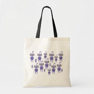 Purple Cats Budget Tote Bag