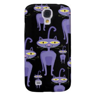 Purple Cats Samsung Galaxy S4 Case