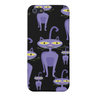 Purple Cats Cover For iPhone 5